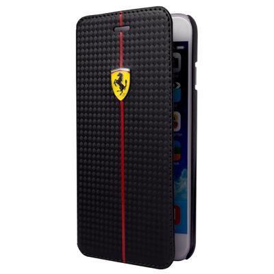 Etui Folio Carbonne Noir -Scudéria- Ferrari I6