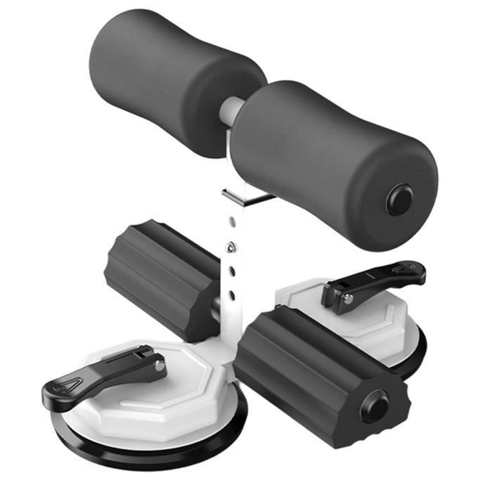 Dispositif d'assistance à la barre de sol amélioré avec 2 ventouses pour la force du noyau des muscles abdominaux à Blanc noir