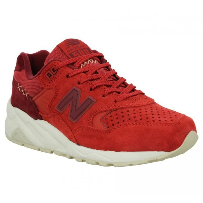 Baskets NEW BALANCE 580 velours toile Femme-40-Red
