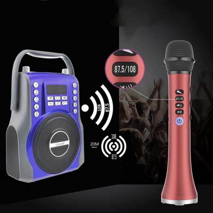 Microphone sans Fil Bluetooth Karaoké Cadeau Rose