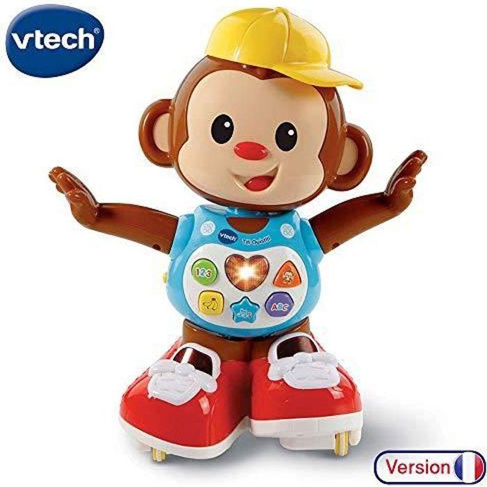 VTech - Titi Ouistiti – singe interactif – jouet singe – jouet bebe 12-36 mois – brun 80-505975