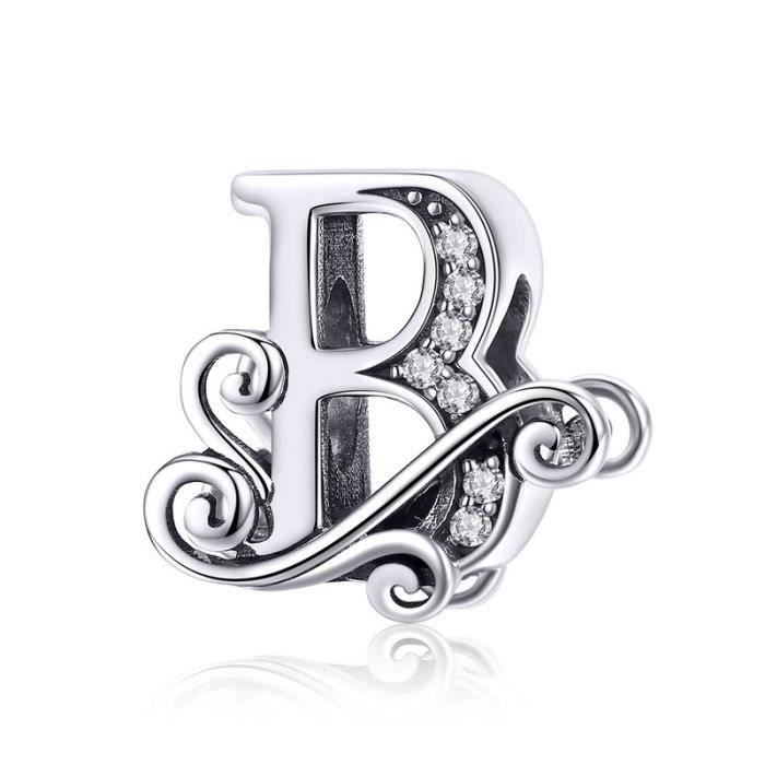 charms pandora lettre b