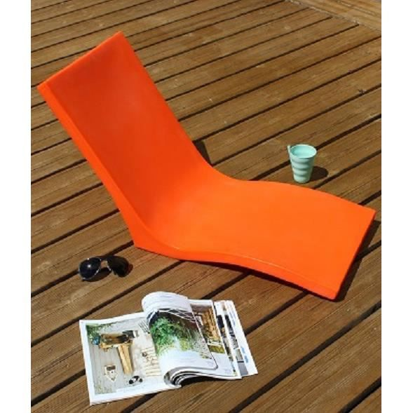 CHAISE LONGUE Transat Enfant Iron Atelier Orange Made