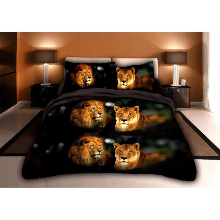 parure de couette parure de lit the lion king 1 housse de couette 220x240cm 2 taies d. Black Bedroom Furniture Sets. Home Design Ideas