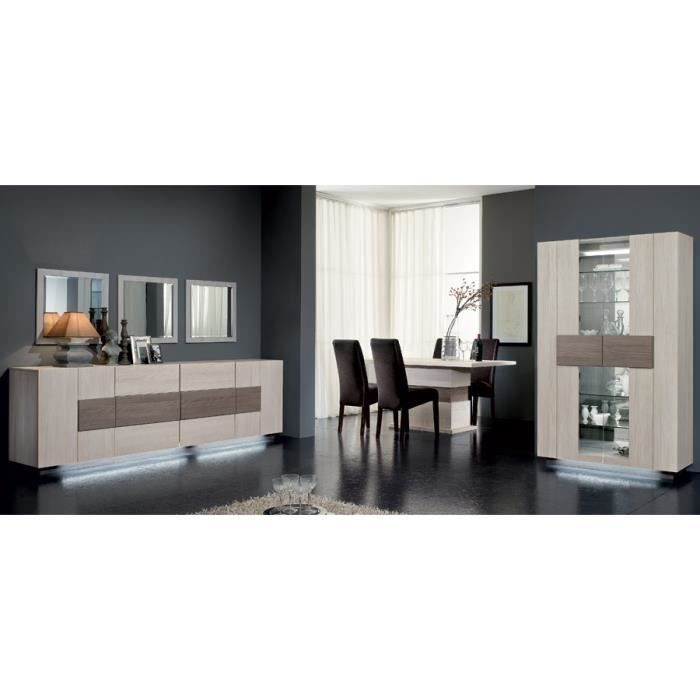 salle manger compl te couleur ch ne blanchi et ch ne. Black Bedroom Furniture Sets. Home Design Ideas