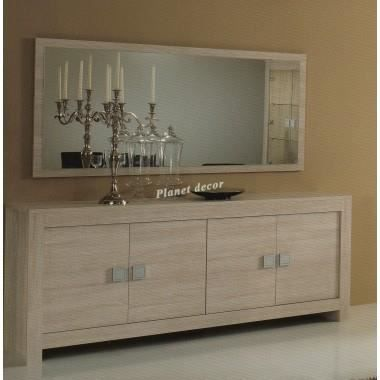 bahut miroir 180cm modele pisa blanchy achat vente. Black Bedroom Furniture Sets. Home Design Ideas