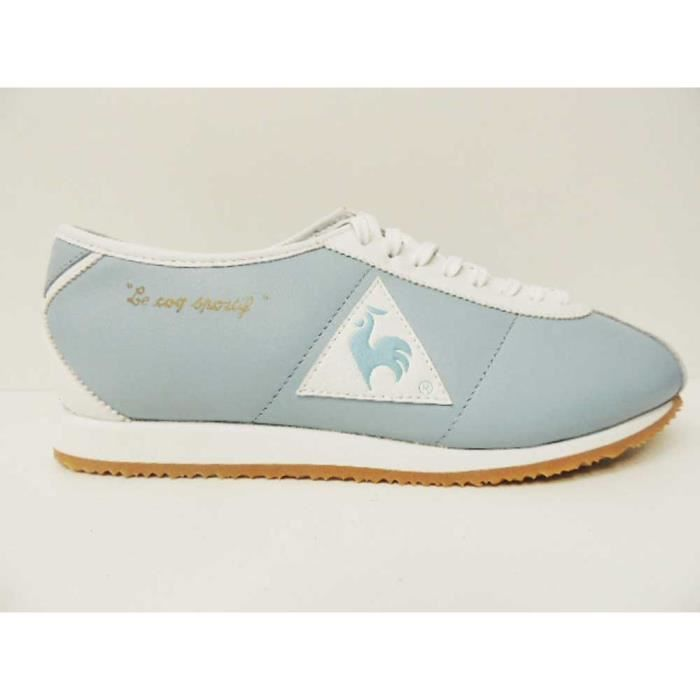 Chaussure Baskets Le Coq Sportif Wendon Sky Blue White Leather Pointure 41