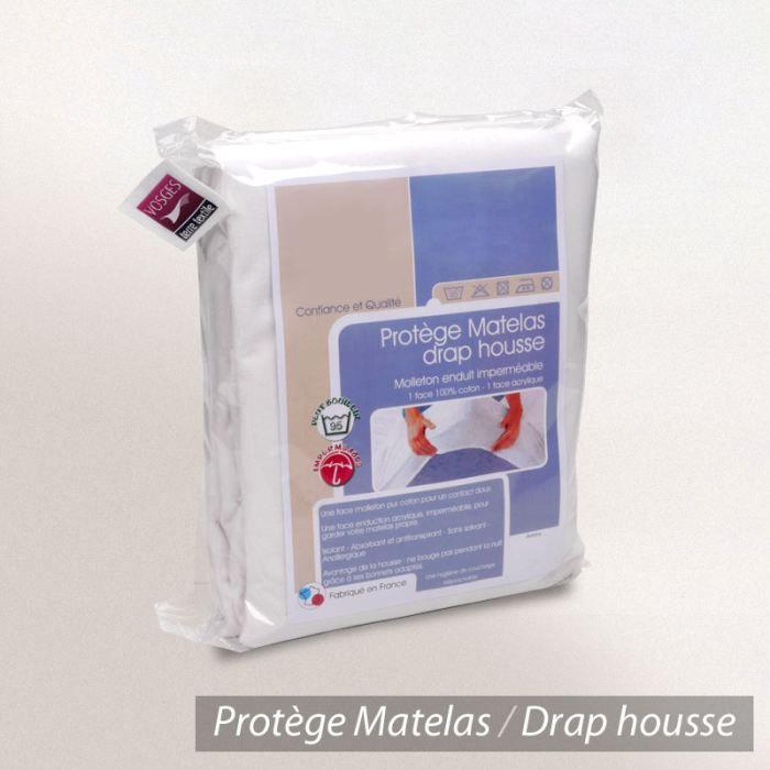 PROTÈGE MATELAS  Protège matelas imperméable 140x190cm ANTONYB.30cm