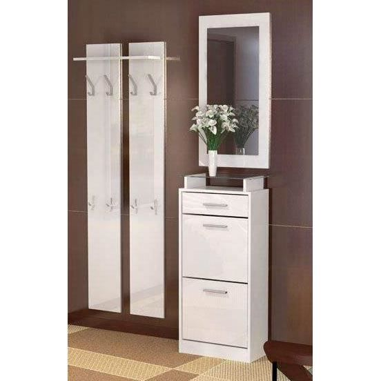 vestiaire d 39 entr e blanc laqu achat vente meuble d 39 entr e vestiaire d 39 entr e blanc la. Black Bedroom Furniture Sets. Home Design Ideas