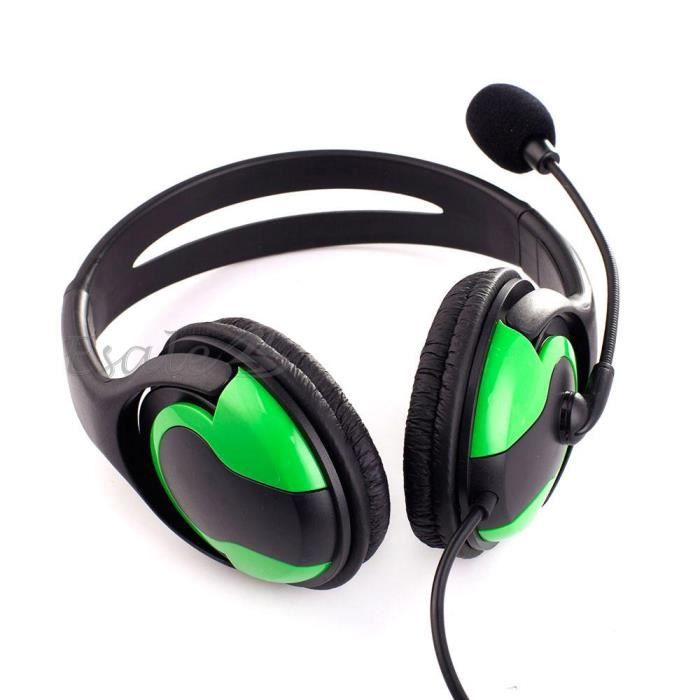 casque couteur headset filaire st r o microphone mic pour jeux ps3 pc laptop achat vente. Black Bedroom Furniture Sets. Home Design Ideas
