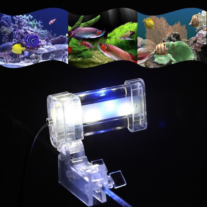 8cm 4 leds lumi 232 re d aquarium cl clip on bleu et blanc le ac220v 240v pour aquariums et
