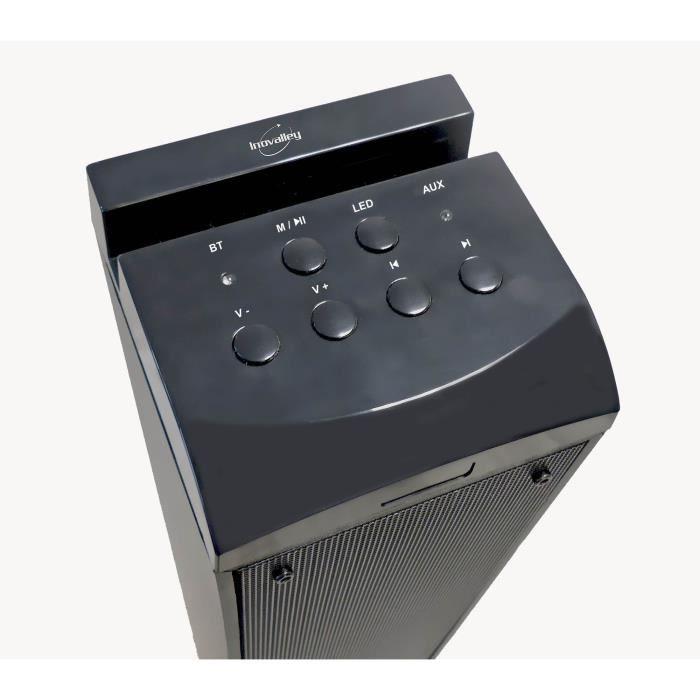 ENCEINTE NOMADE INOVALLEY HP50 Tour de son Lumineuse Bluetooth