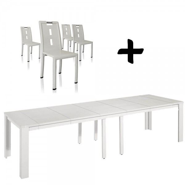 Table console extensible clara chaises irina achat for Table a manger 2 personnes