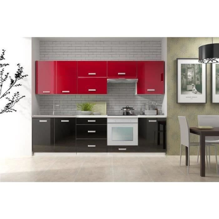 cuisine pas cher toro bi color noir rouge achat vente. Black Bedroom Furniture Sets. Home Design Ideas