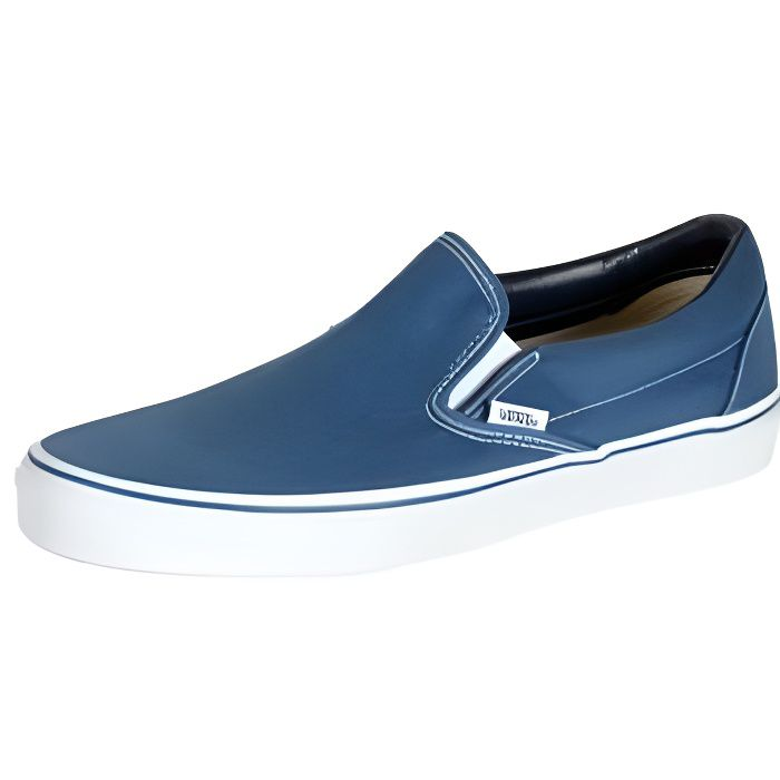 basket vans classic slip on bleu homme bleu achat vente basket vans classic slip on. Black Bedroom Furniture Sets. Home Design Ideas