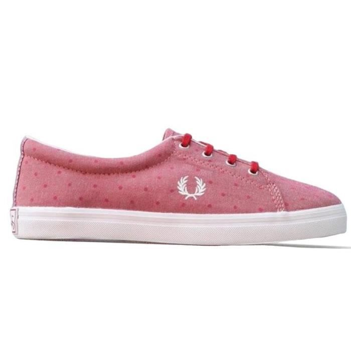 Baskets - Aubyn Chanbray Deep Red Zapatillas de Fred Perry - Couleur - Rouge , Taille - 38