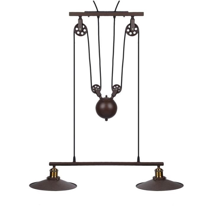 outad suspension lampe au plafond luminaire avec syst me de poulie hauteur r glable plafonnier. Black Bedroom Furniture Sets. Home Design Ideas