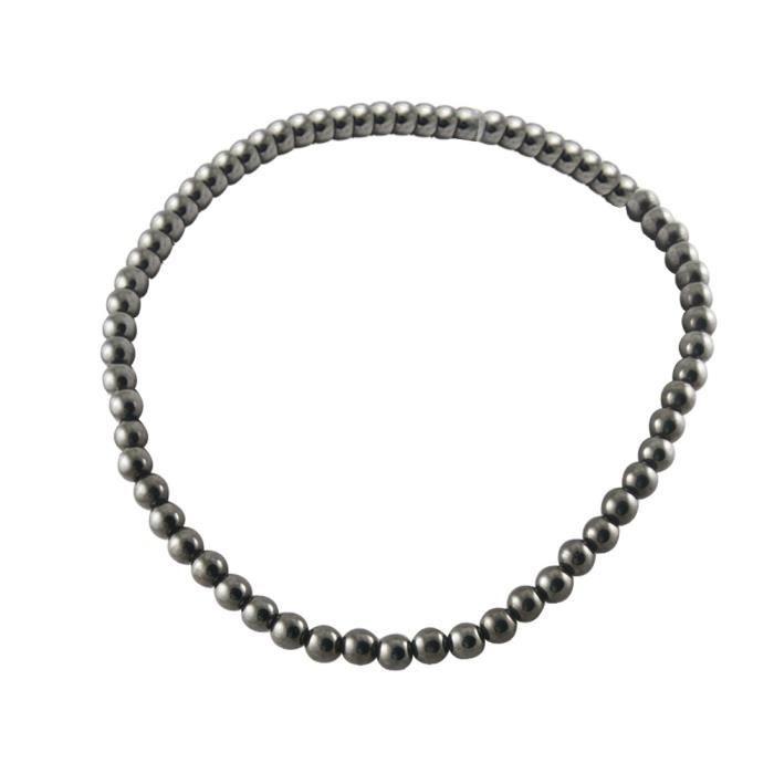 SAUTOIR ET COLLIER Connexion magnétique Noir poli Collier perles pour