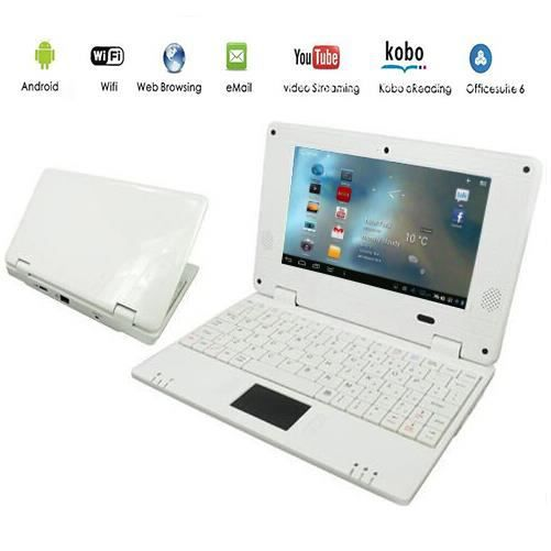 tablette ordinateur portable netbook blanc android 4 ordinateurpascher. Black Bedroom Furniture Sets. Home Design Ideas