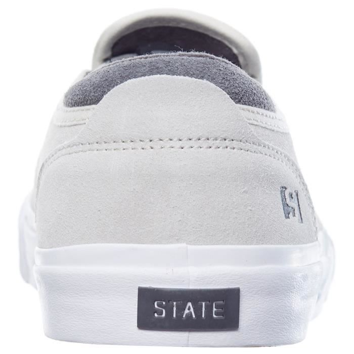 Chaussures Slip-on State Keys Cream-Pewter Suède