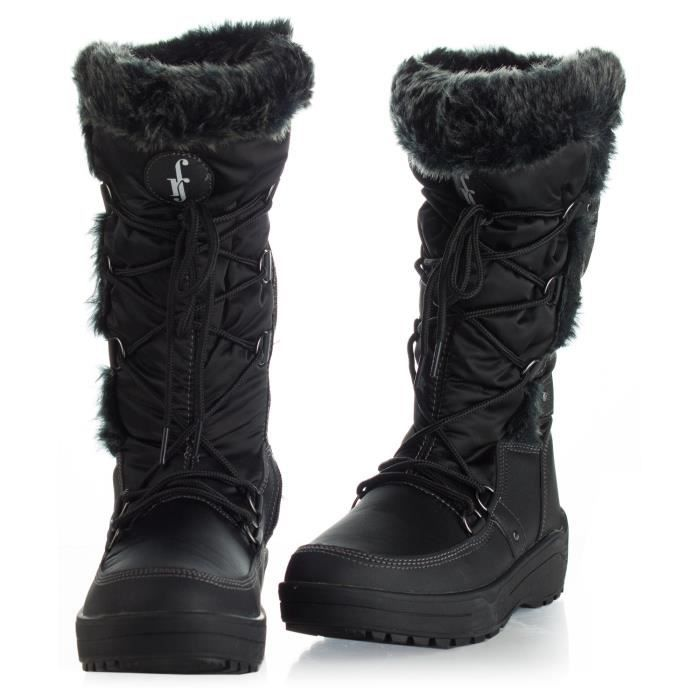 Lace Up Ankle Mid Calf Artic Warm Fur Lined Water Resistant Eskimo Snow Boots I4IKH Taille-42