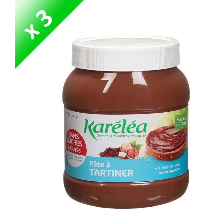 [LOT DE 3] LEA NATURE Karéléa Pâte à Tartiner Noisette Cacao - 750 g