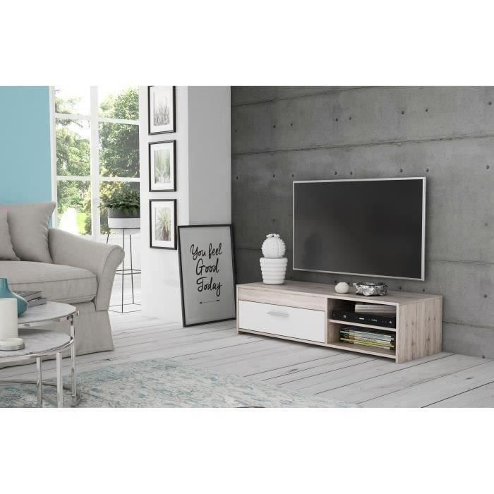 Finlandek meuble tv katso contemporain d cor chene cendr for Meuble tv finlandek