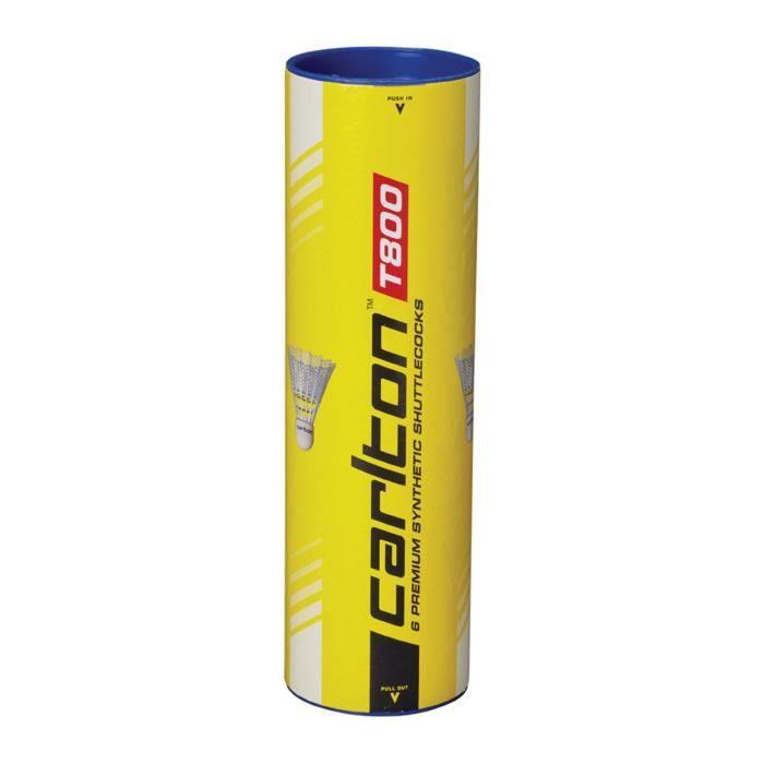 DUNLOP Tube de 6 volants de badminton T 800 blanc