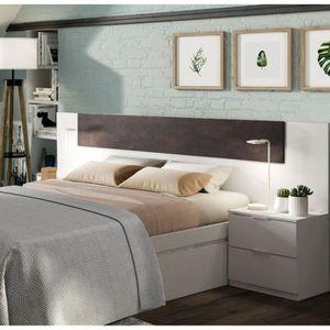 TÊTE DE LIT ALAYA Tête de lit + 2 Tables de chevet - Décor bla