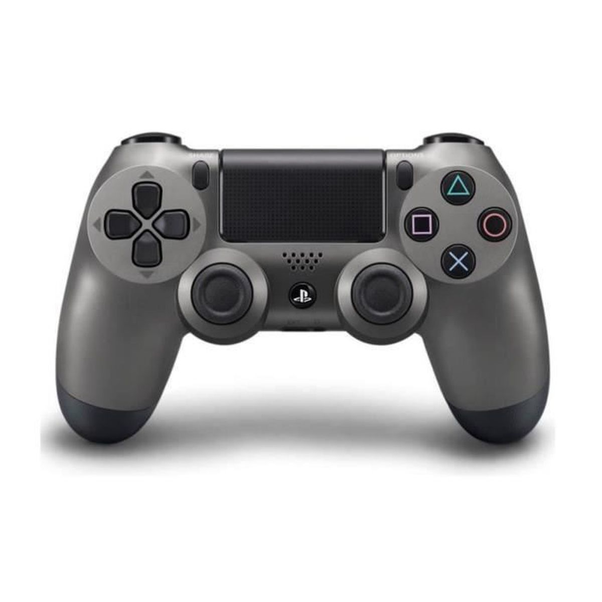 manette dualshock 4 steel black ps4 2 boutons thumbstick offert prix pas cher cdiscount. Black Bedroom Furniture Sets. Home Design Ideas