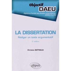 CRITIQUE LITTÉRAIRE La dissertation