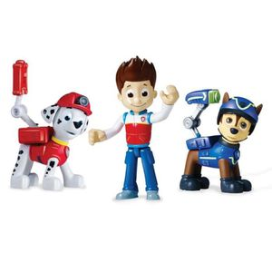 PAT' PATROUILLE Pack 3 Figurines Sac ? Dos Transformable 3 : Ryder, Marcus et Chase