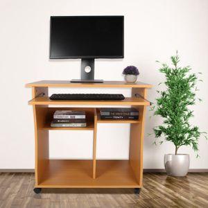MEUBLE INFORMATIQUE Table d'ordinateur table d'écriture pour PC bureau