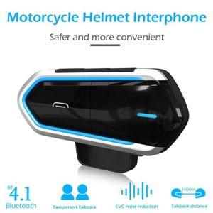 INTERCOM MOTO QTB35 Casque Moto Bluetooth Headset Étanche Rechar