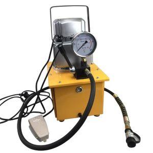 POMPE À EAU CAMPING 7L Pompe Electrique Hydraulique 70MPA Vanne Manuel