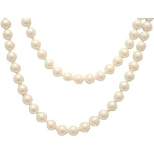 SAUTOIR ET COLLIER Collier Perle des atols IV blanc
