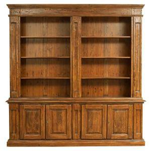 BIBLIOTHÈQUE  Bibliothèque style rustique  en bois massif de til
