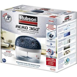 ABSORBEUR D'HUMIDITÉ RUBSON Absorbeur Aero 360 Power Tab 40m² Avec 2 re