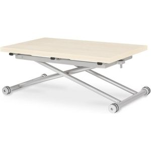 Table basse relevable blanc achat vente table basse for Table basse chene clair pas cher
