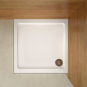 RECEVEUR DE DOUCHE 80x80x3cm Receveur de douche blanc,extra-plat ,gel