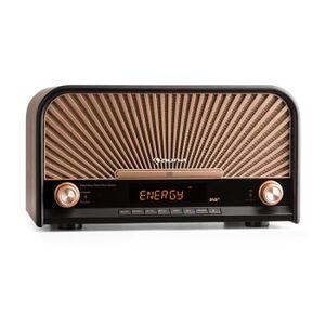 CHAINE HI-FI auna Glastonbury Chaîne HiFi stéréo rétro DAB+ FM