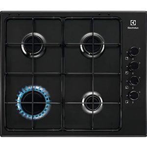 CUISINIÈRE - PIANO Cuisinière à gaz 4feux largeur 60cm Noir Ligne s