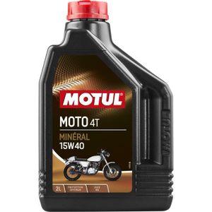 HUILE MOTEUR MOTUL Huile  MOTO 4T 15W40 2L (bidon)