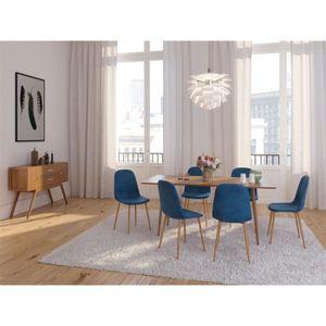 CHAISE Chaise salle a manger scandinave Velours SCANDINAV