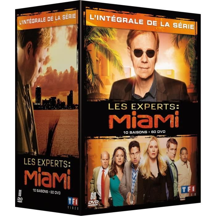 dvd coffret les experts miami l 39 int grale de la s rie 10 saisons 60 dvd en dvd s rie pas. Black Bedroom Furniture Sets. Home Design Ideas