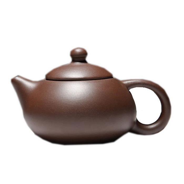 Simple Brown Théière Clay Handcrafted Théière