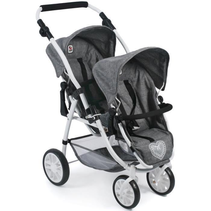 BAYER CHIC 2000 , Poussette double,Tandem-Buggy -VARIO-