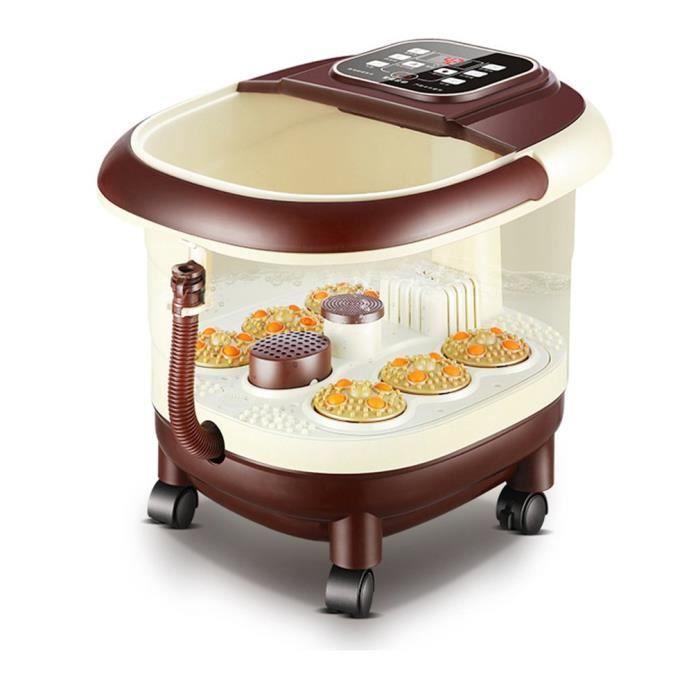 Bain de pieds Massage automatique Thermostat électrique Télécommande Smart Foot Bath brown