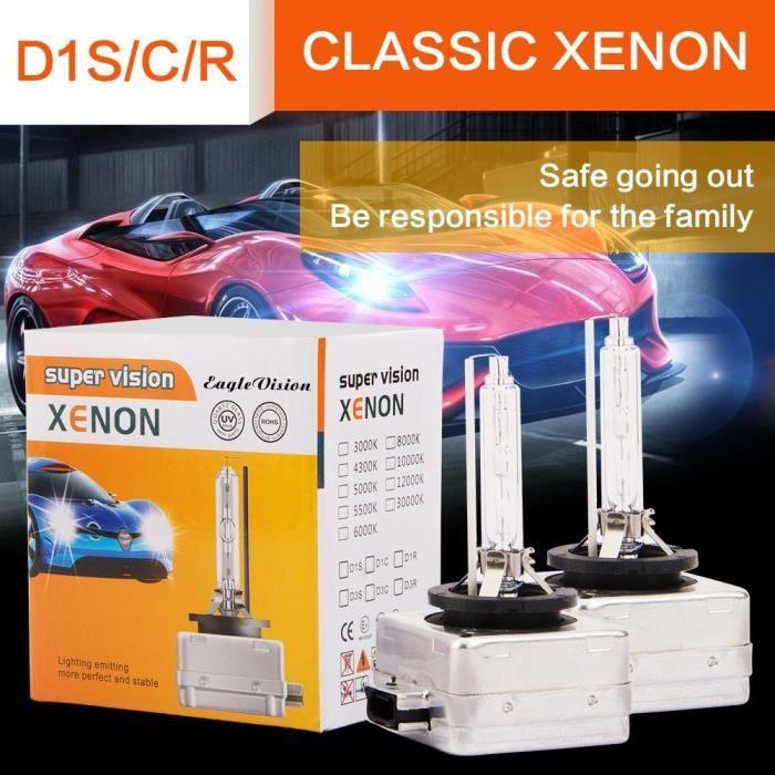 Paire Ampoule Xénon D1S 6000K 35W 7500LM 12V Qualité Conversion 200% Plus Brillant Que Halogène Lampe 2 Ans Garantie 30000H Durée