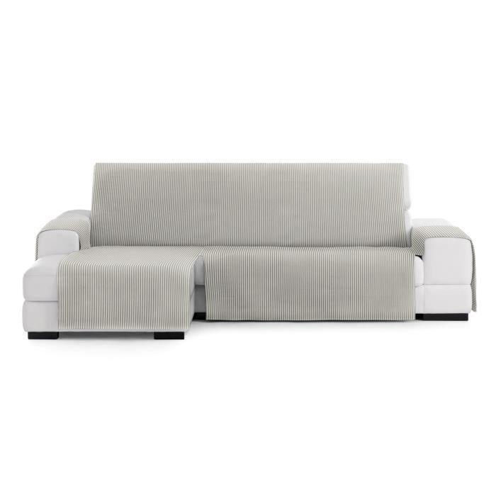 Housse de canapé d'angle 290cm gauche vue frontale Calma couleur 11-écru-vison